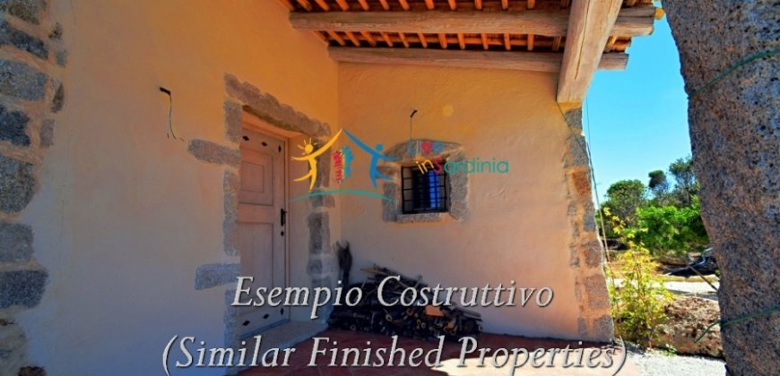 Fantastic 2,7 Ha Land and Unfinished Villa With Sea Views in Aglientu, North East Sardinia