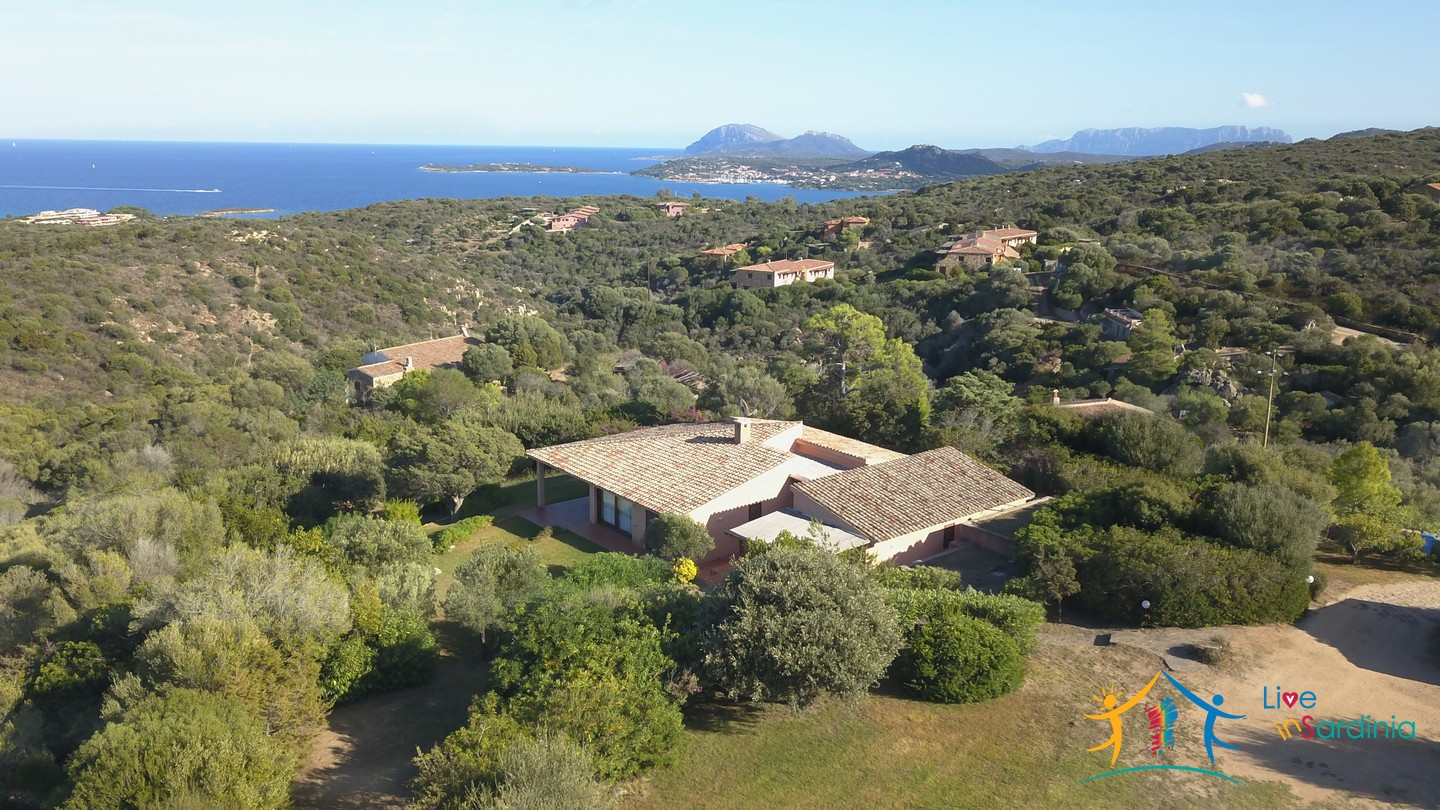 Sea view villas for sale San Pantaleo Sardinia ref.Villa Fulvia